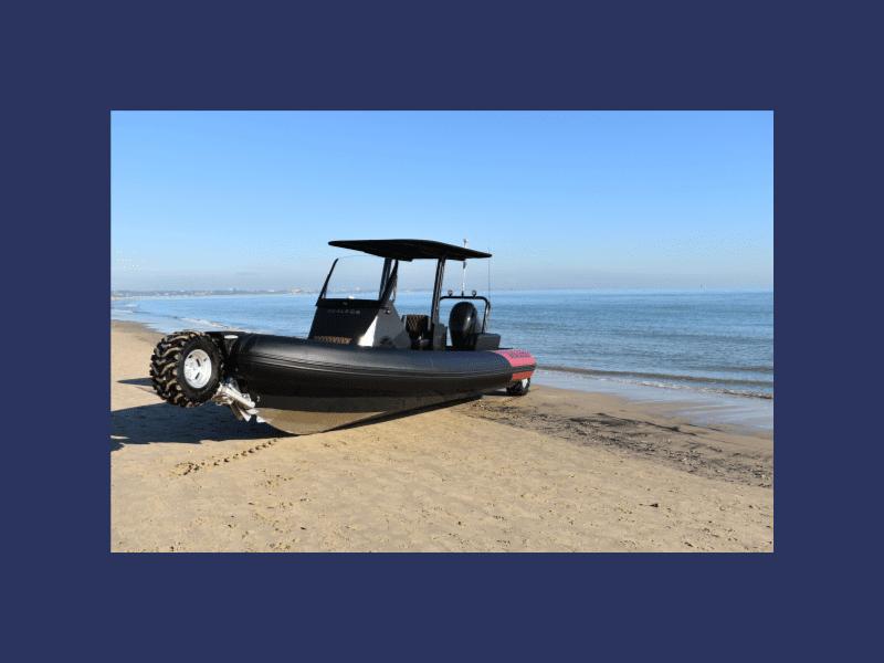Sealegss 7.5m amphibious craft